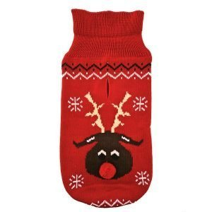 Red Reindeer Bobble Nose Jumper